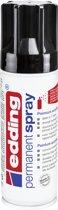 edding 5200 permanent spray premium acrylverf diepzwart glanzend RAL 9005