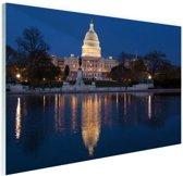 Verenigde Staten Capitool Glas 60x40 cm - Foto print op Glas (Plexiglas wanddecoratie)