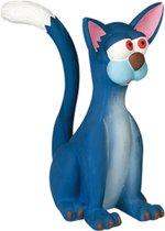 Flamingo Latex hondenspeelgoed Cat Jumbo - Blauw - 24,1 x 15,5 x 31,2cm