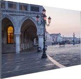 Piazza San Marco Aluminium 90x60 cm - Foto print op Aluminium (metaal wanddecoratie)