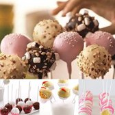 100X Papieren Cakepop Stokjes Set - Pop Cake Lolly Stokjes/ Lollipop Sticks - 8cm