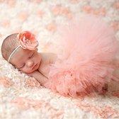 Tutu met haarband - Roze - Prinses kledingset - newborn fotoshoot