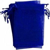 Organza zakjes blauw 10x15 cm 100 stuks / cadeau zakjes
