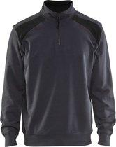 Blåkläder 3353-1158 Sweater halve rits Medium Grijs/Zwart maat XS