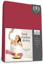 Bed-Fashion katoenen hoeslaken Bordeaux - 180 x 210 cm - Bordeaux