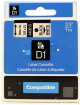 Dymo D1 40913 compatible tape 9mm. zwart op wit PrintVoordeelshop huismerk