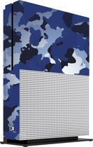 Xbox One S Console Skin Camouflage Blauw