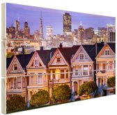 FotoCadeau.nl - Huizen San Francisco Hout 120x80 cm - Foto print op Hout (Wanddecoratie)