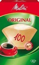 Melitta classic filterzakjes 100/40 natuur 9 Verpakkingen van 40 stuks