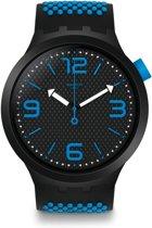 Swatch Big Bold Blue Horloge  - Blauw