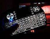 Draadloos mini multimedia toetsenbord met touchpad + oplaadbare accu & Backlight - Moonlight edition