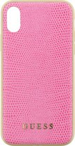 """Guess Python Hard Case voor Apple iPhone X (5,8"""") - Roze"""