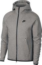 Nike MSW Tech Fleece Hoodie Fz Trui Heren - Dk Grey Heather/Black/(Black)