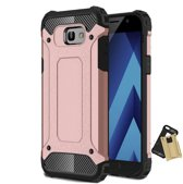 Teleplus Samsung Galaxy A3 2017 Double Layer Tank Cover Case Rose Gold hoesje