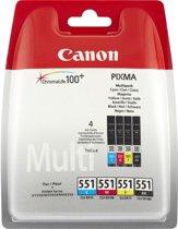 Canon CLI-551 - Inktcartridge - Zwart / Cyaan / Geel / Magenta