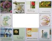 Rouwkaarten  Condoleance kaarten  Set van 10   L-017