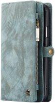 Caseme - iPhone 11 Hoesje - Uitneembare Portemonnee Vintage Blauw