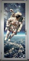 Deurposter 'Astronaut' - deursticker 75x195 cm