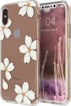 FLAVR iPlate White Petals for iPhone X/Xs colourful