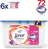 Lenor 3in1 PODS Wilde Bloeiende Bloem - Voordeelverpakking 6x12 wasbeurten - Wasmiddel capsules