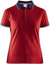 Craft Noble Polo Pique Shirt Wmn Rood maat XS