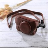 Retro stijl PU lederen cameratas tas met riem voor Sony RX100 M3 / M4 / M5 (koffie)
