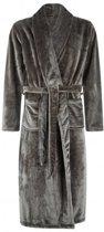 Badrock - fleece badjas - lang -sjaalkraag - antraciet XL/XXL
