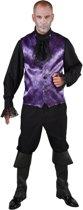 Vampier & Dracula Kostuum | Spinnenweb Halloween Gilet Paars Man | Medium / Large | Halloween | Verkleedkleding