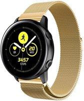 Milanese Loop Armband Voor Samsung Galaxy Watch Active 1/2 40/44 MM - Milanees Horloge Band - Goud Kleurig