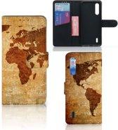 Flip Cover Xiaomi Mi 9 Lite Wereldkaart