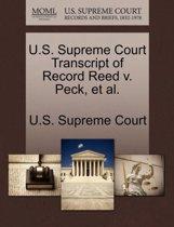 U.S. Supreme Court Transcript of Record Reed V. Peck, et al.