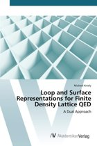 Loop and Surface Representations for Finite Density Lattice Qed