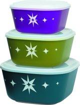 Aladdin Storage Bewaarboxen - Polypropyleen - Afsluitbaar - Set van 3 stuks - Assorti