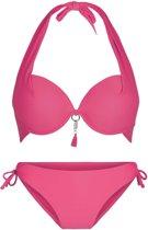 LingaDore 4114 SUMMER Halternek bikini set - Maat 38B- Rood