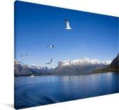 Het Argentijnse meer in Zuid-Amerika Canvas 30x20 cm - klein - Foto print op Canvas schilderij (Wanddecoratie woonkamer / slaapkamer)