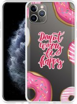 Apple iPhone 11 Pro Max Hoesje Donut Worry
