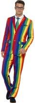 Over the Rainbow Regenboog kostuum 3-delig | maat M
