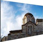 Griekse architectuur Aluminium 90x60 cm - Foto print op Aluminium (metaal wanddecoratie)