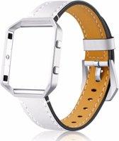 SilverEdge Eco Leer Armband voor Fitbit Blaze - Wit