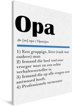 Leuk cadeau voor opa - Definitie Opa Canvas 40x60 cm