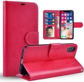 Chique Lederen hybride beschermhoes voor iPhone 7 | 8  roze