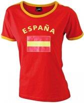 Rood dames shirt vlag Espana S