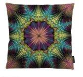Color Peacock Kussenhoes | Pauw Mandala | Katoen/Linnen | 45 x 45 cm