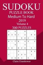 300 Medium to Hard Sudoku Puzzle Book 2019