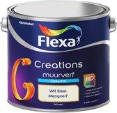 Flexa Creations - Muurverf Zijde Mat - Mengkleuren Collectie - Wit Sisal  - 2,5 liter