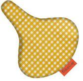 BikeCap - zadelhoes geel ruitje