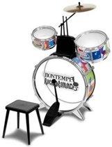 Zilver drumset met stoel