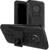 Motorola Moto G6 Plus hoesje - Rugged Hybrid Case - zwart