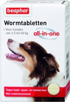 Beaphar All In One Ontwormingsmiddel - Hond 2.5-40 kg - 4 Tabletten