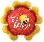 Folieballon Bee Happy Flower (86cm)
